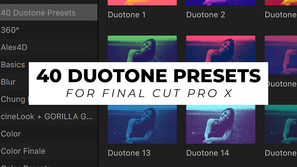 40 Duotone Presets for FCPX