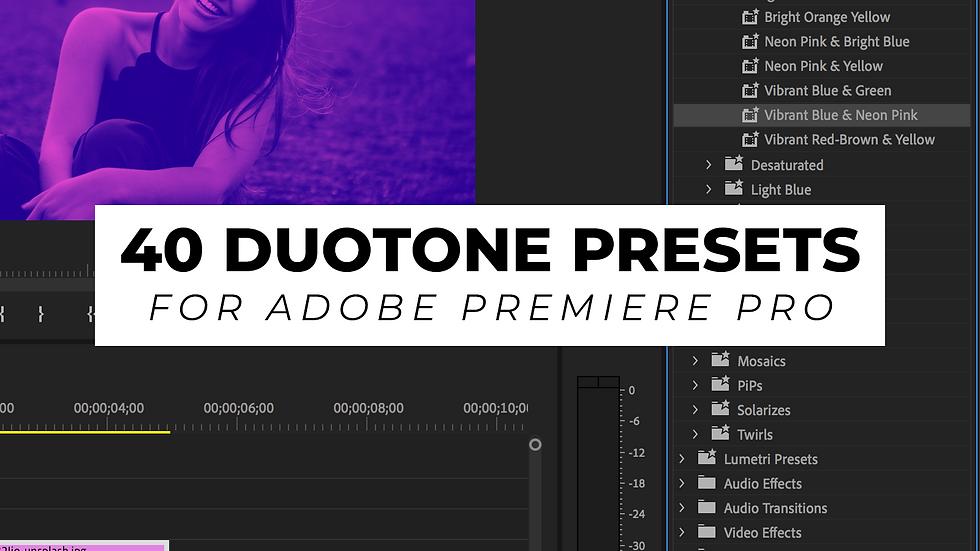 40 Duotone Presets for Premiere