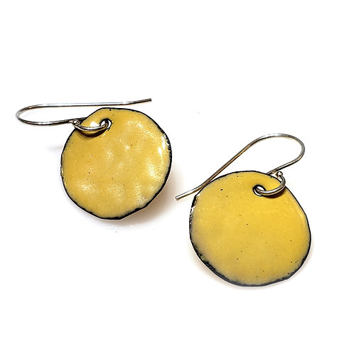 Bright Yellow Polka Dot Earrings
