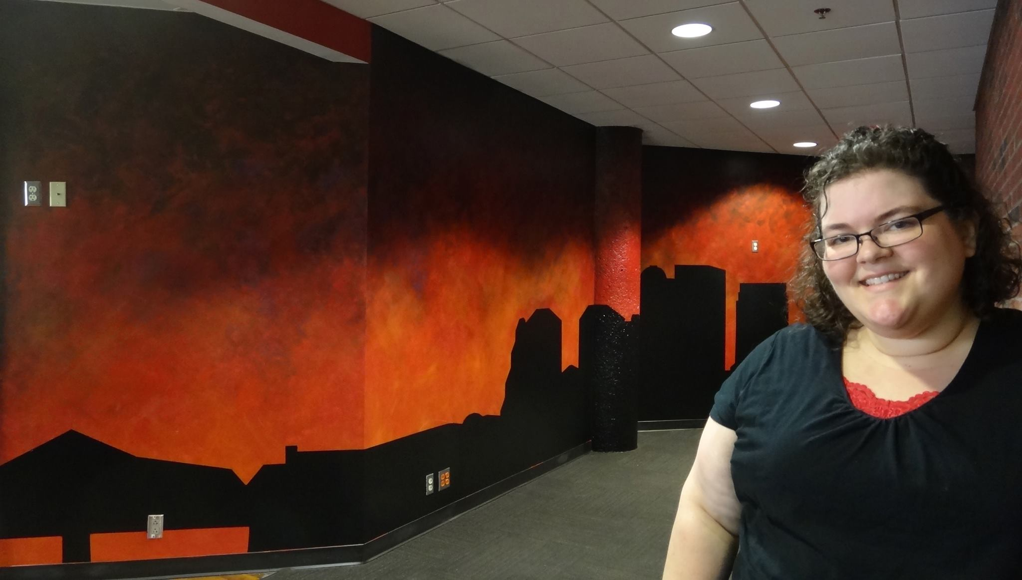 Handpainted Louisville Skyline Mural