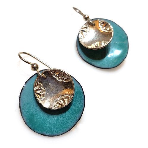 Aqua & Silver Earrings