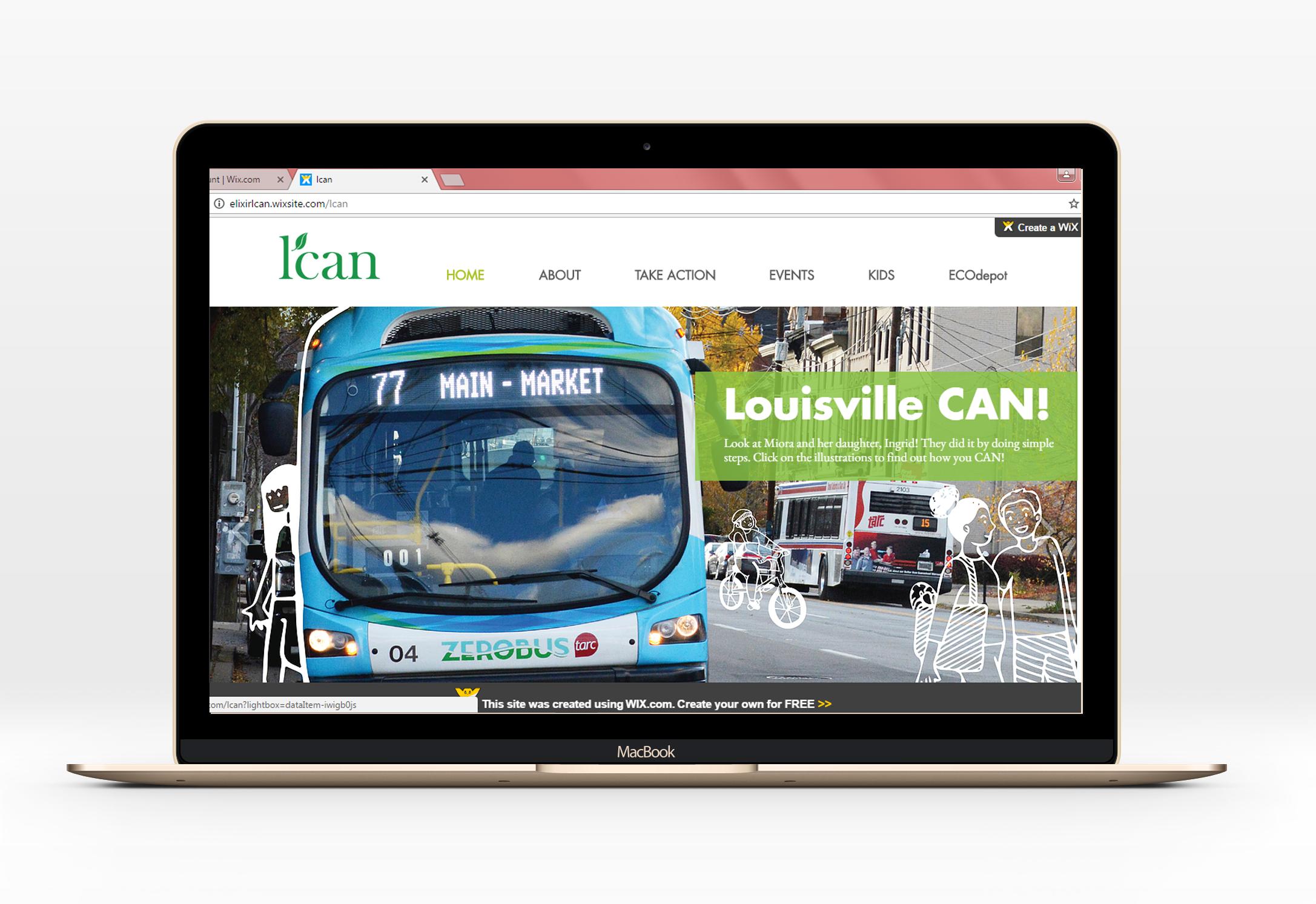 LCAN Website Mockup