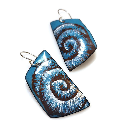 Sapphire Blue Trapezoidal Earrings