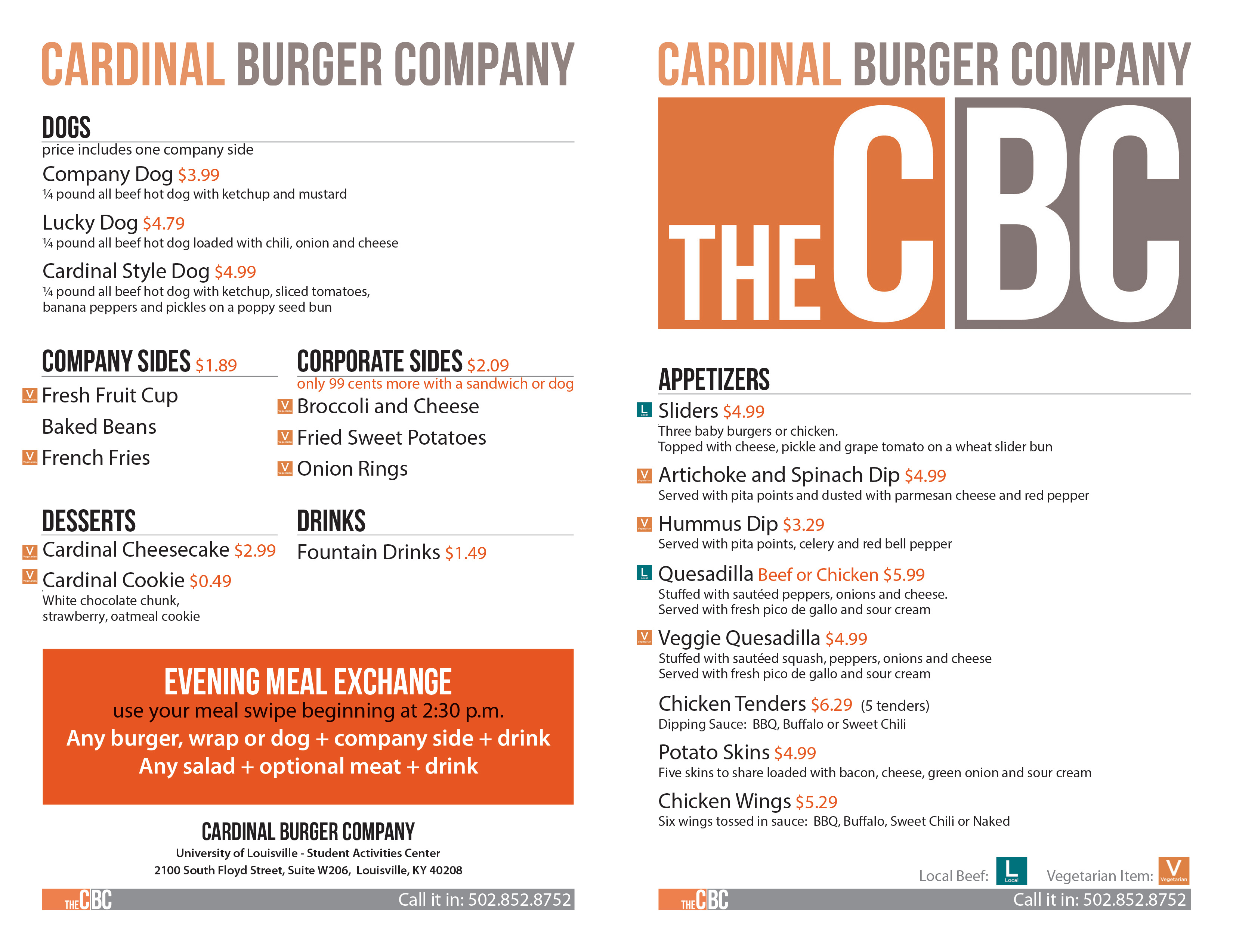 CBC to go menu