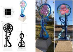 """Indiana Nouveau"" Sculpture"