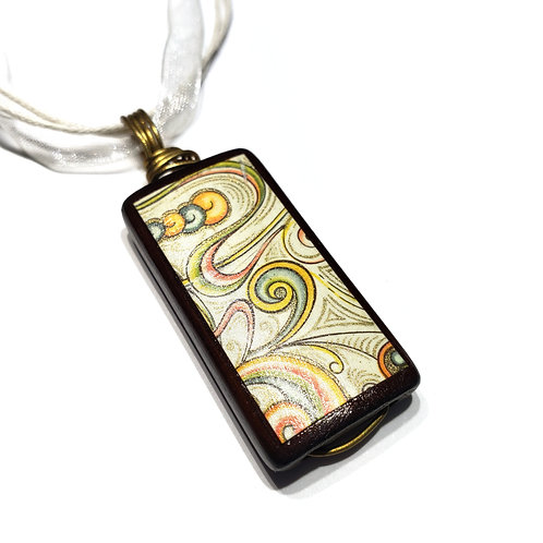 Bamboo Tile Necklace