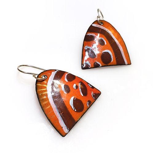 Large Orange Arch Earrings