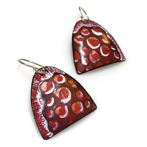 Large Red Arch Earrings