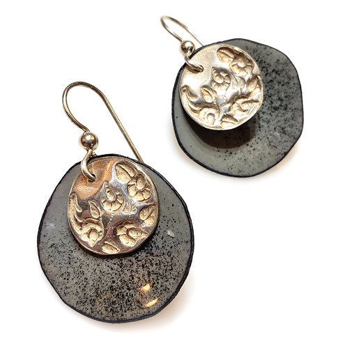 Gray & Silver Earrings
