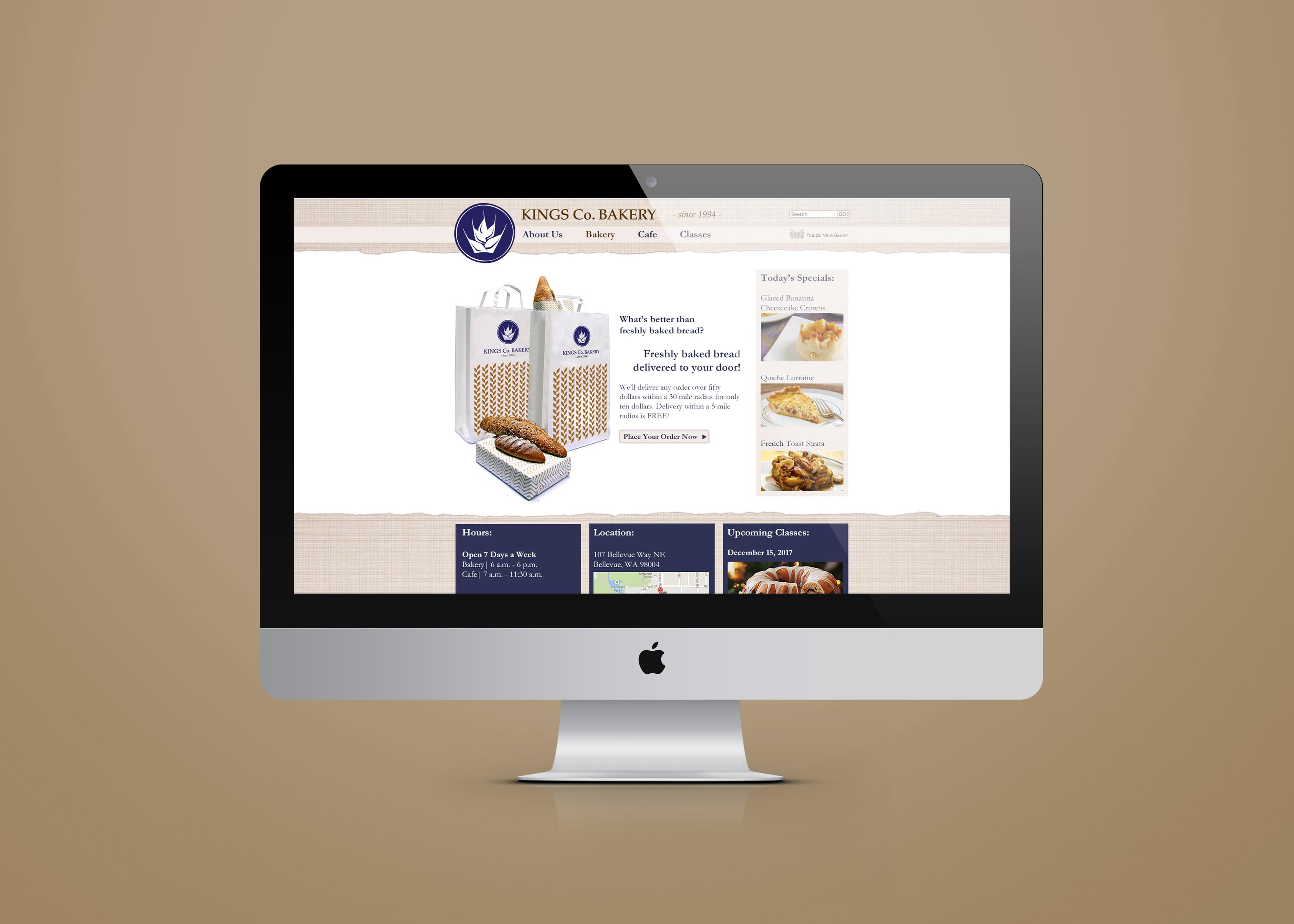 Kings Co Website Mockup