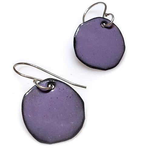 Purple Polka Dot Earrings