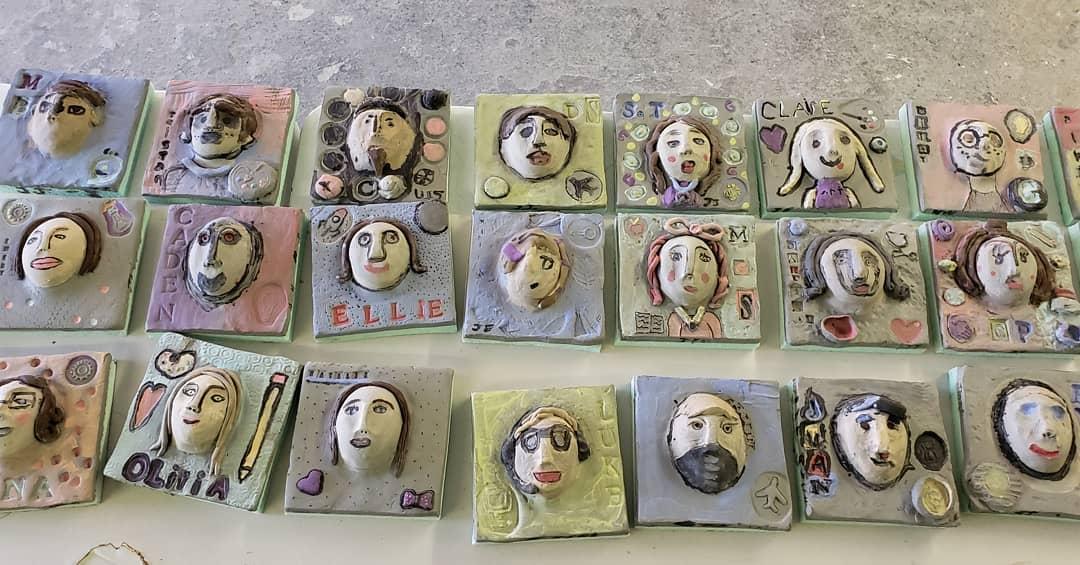 Ceramic Self Portraits