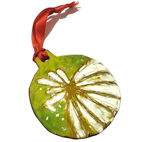 Sketchy Enamel Ornament