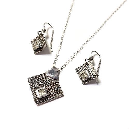 Sterling Silver Necklace & Earrings