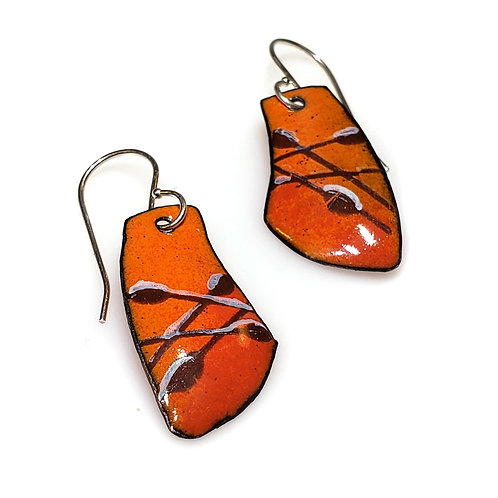Orange Sway Earring