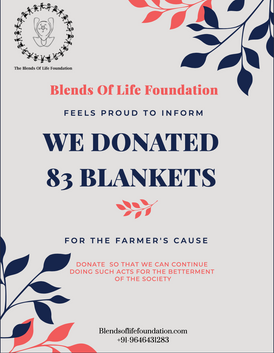 Blends Of Life Foundation Donated For Farmers