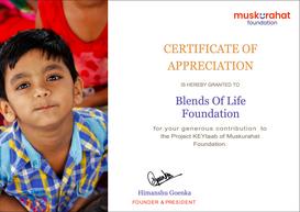 Muskurahat Foundation Certificate