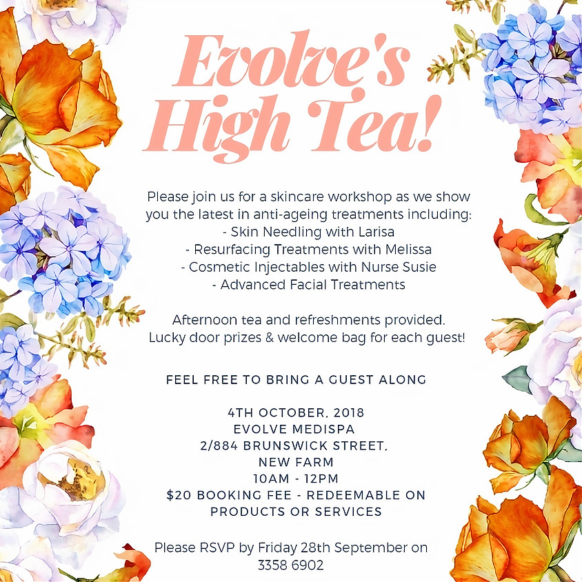 Evolve's High Tea