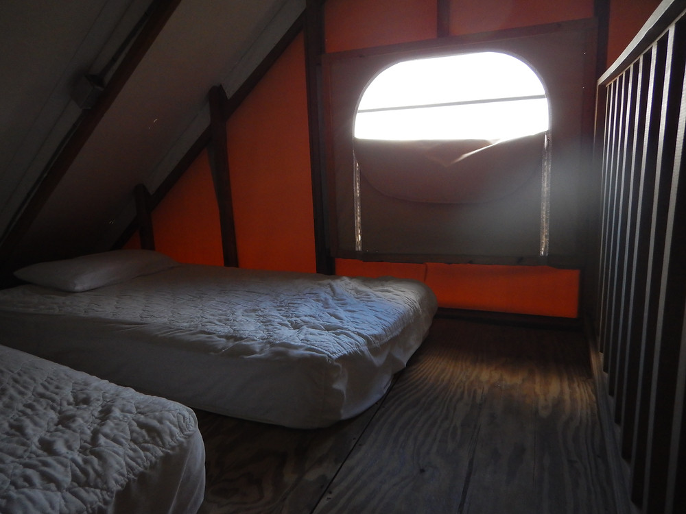 loft with 2 comfy beds in eco tent at Concordia Eco Resort in St John