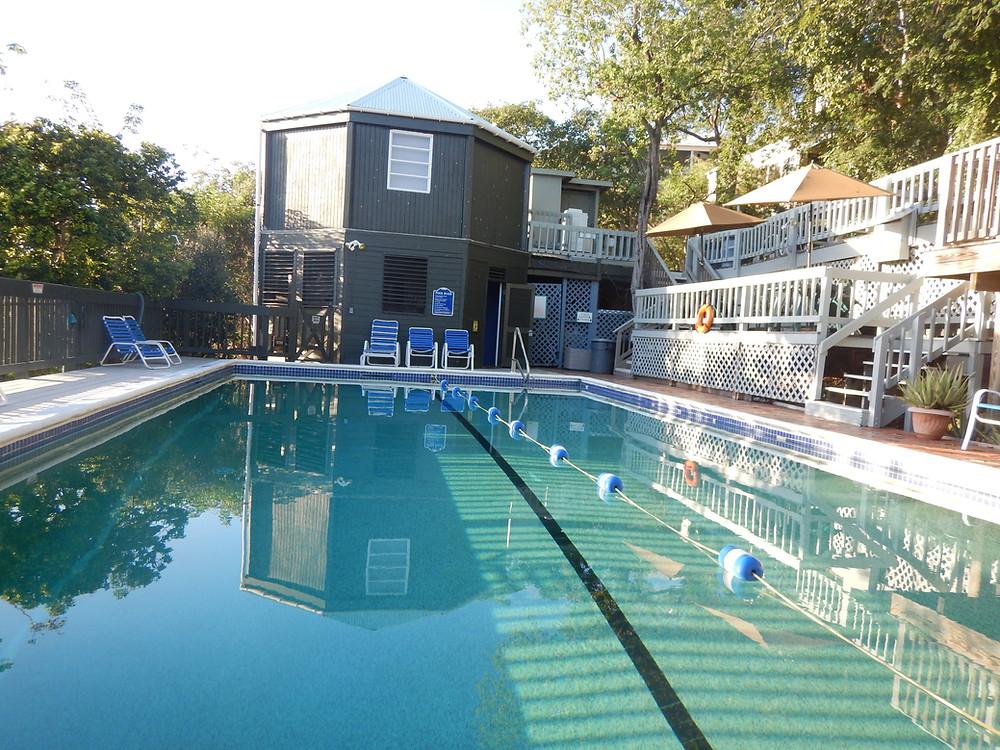 pool, concordia, travel, St. John, US Virgin Islands, adventure, eco resort, ecology, stairs, deck, ocean, beach