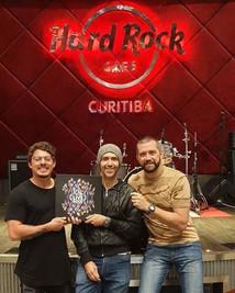 Pepo, MRossi e Brunno do Hard Rock Curitiba