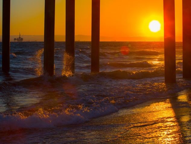 sunset - huntington, california
