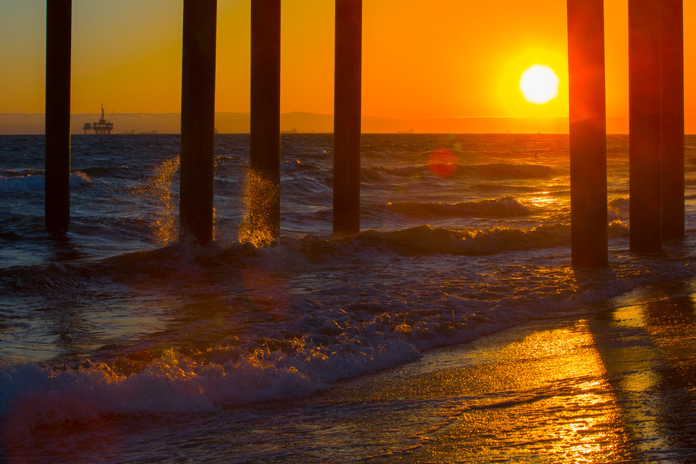 huntington sunset - print à venda