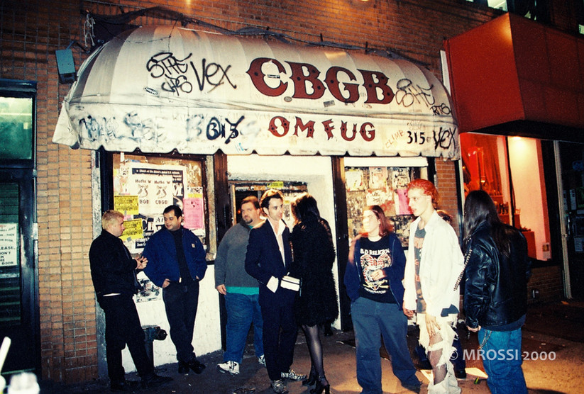 CBGBs - templo do punk rock - nyc 2000