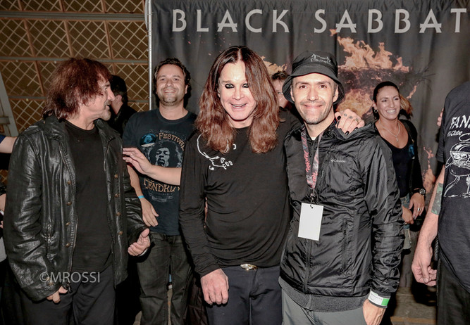 ozzy e mrossi - backstage do show do black sabbath 2013