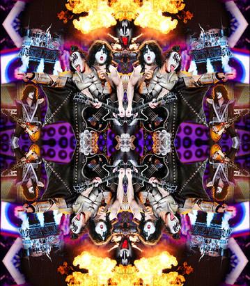 kiss kaleidoscope - print à venda