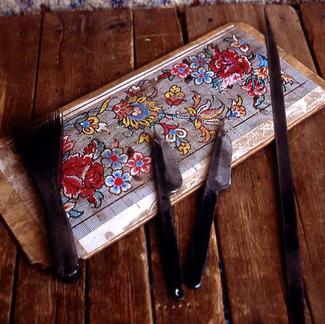 ペルシャ絨毯道具とデザイン