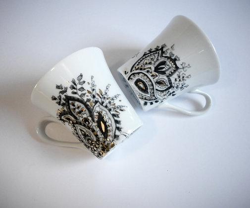 """Tasses à café """"motifs cachemire"""""""