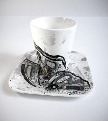 "Mug ""conique"" papillon"