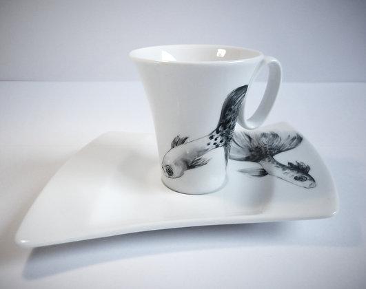 Tasse à café poissons