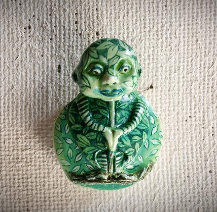 "Crénature ""femme feuille""verte"