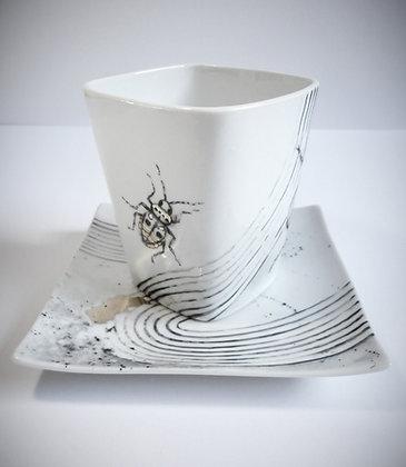 """Mug """"carré"""" coléoptères"""