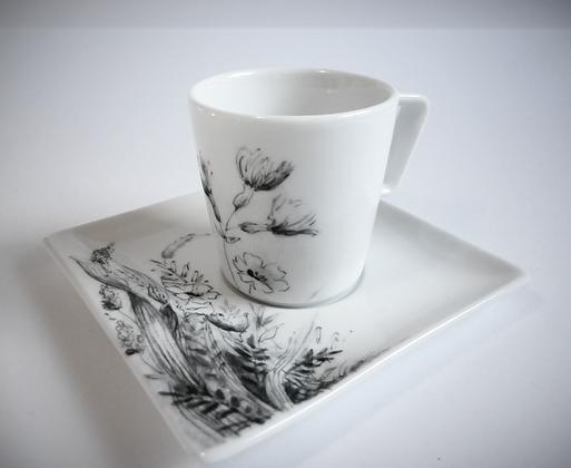 """Tasse à café """"motif floral"""""""