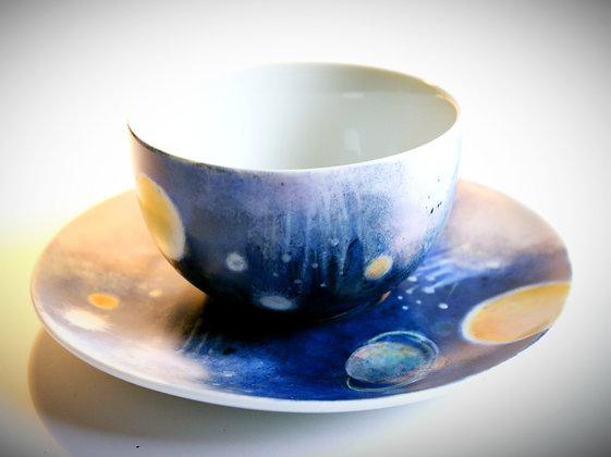 """duo Tasses à thé """"cosmos"""""""