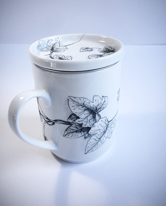 "Mug ""tisanière"" lierre"