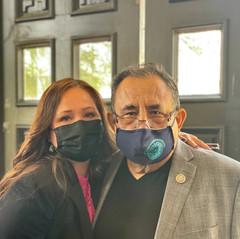 With Congressman Grijalva at a Press Conference
