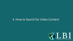 How to search for video content