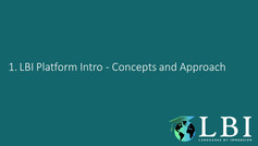 LBI Platform Introduction - Concepts and Approach