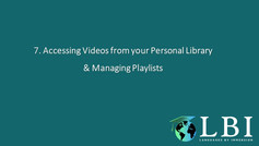 Organizing your Personal Library and Managing Playlists