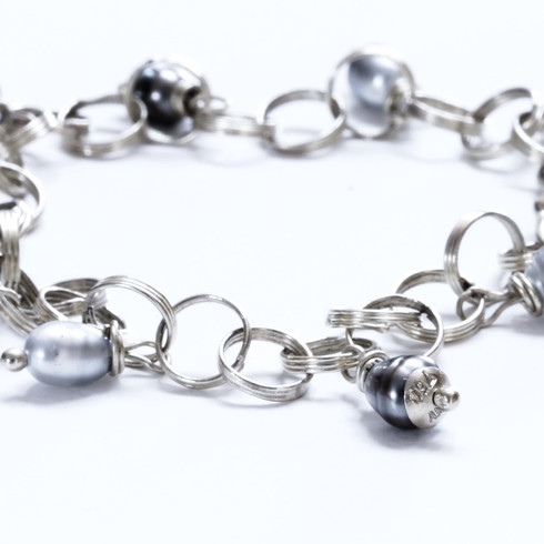 Silver Spiral Links Bracelet
