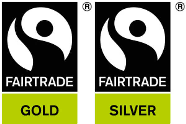 Fairtrade certified logos for gold and silver
