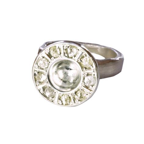 Fair Rough Diamond Silver Ring