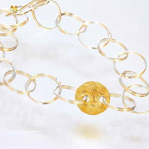 Fairmined Silver and Gold Bracelet