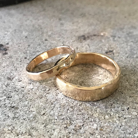 Hammered, Fairmined Eco Wedding Rings