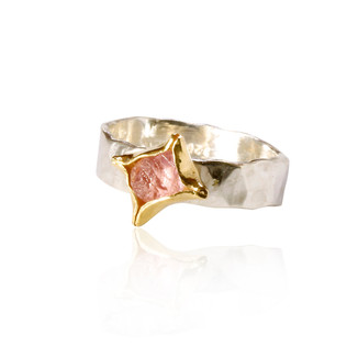 Pink, Rough Sapphire Ring