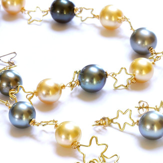 Golden and Blue Necklace